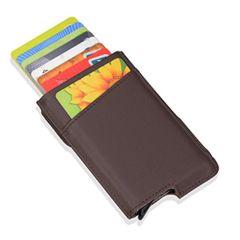 2018 New Style Men Credit Card Case Genuine Leather Business Card ...