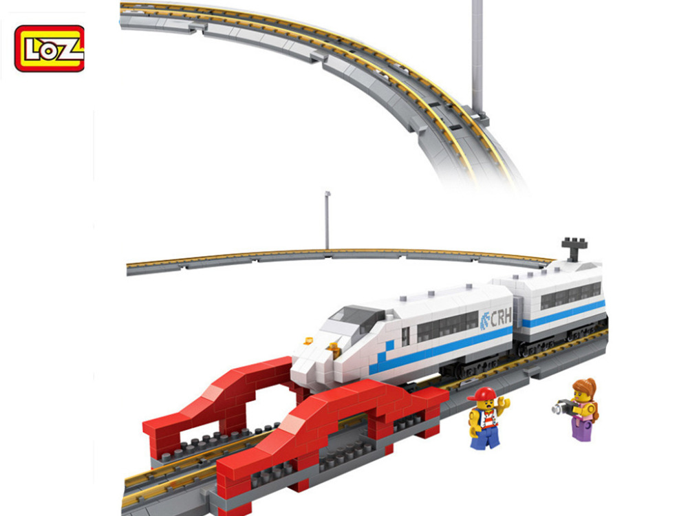 LOZ 2017 New 9047 660PCS Remote Control High Speed Train Rail 3D Model CRH Toy Diamond Block Toys For Children Gifts