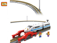 LOZ 2017 New 9047 660PCS Remote Control High Speed Train Rail 3D Model CRH Toy Diamond