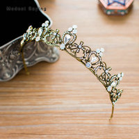 Fairy Antique Copper Plated Wedding Tiaras 2018 with Crystal Crowns Bridal Hair Jewelry Wedding Accessories Pageant Headpiece