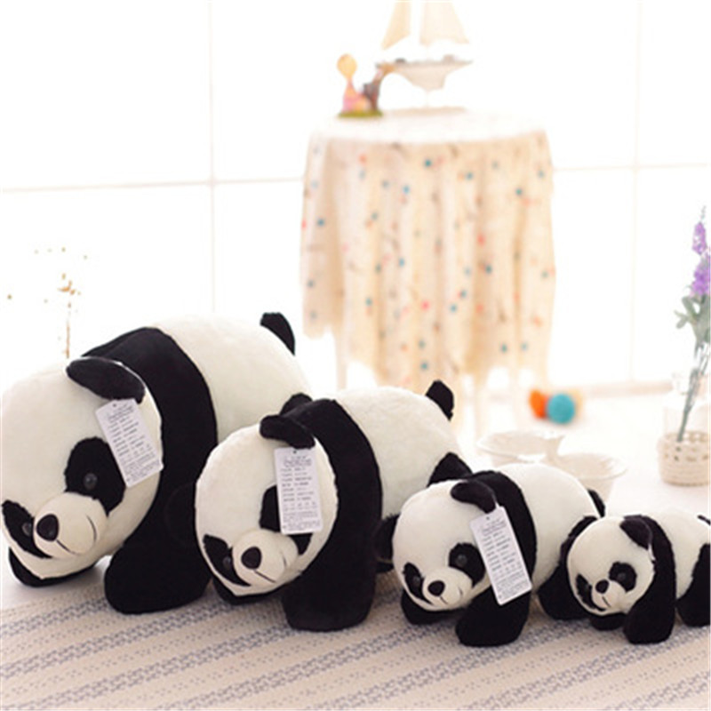 SBB China National Treasure Panda Plush Toy  Cute Doll Simulation Lie Down Style Panda Doll The Gift For Valentines Day Birthday