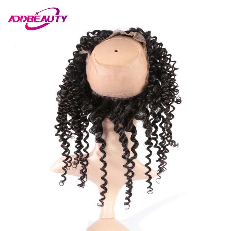 AddBeauty Deep Wave Brailian Virgin Hair 360 Lace Frontal 130% Density Pre Plucked With Baby Hair For Hair Salon