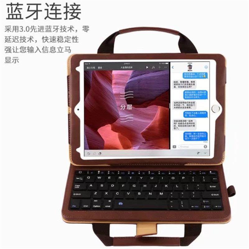 """Portable Leather Case Detachable Bluetooth Keyboard for iPad 5 ipad air Wallet Stand Cover for iPad 6 iPad Pro 9.7"""" Handbag Case"""