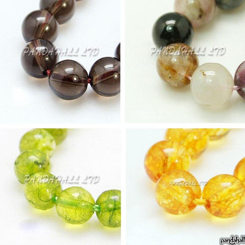 Fuchsia Verre Perles Rondes 8 mm 100 pcs givré Art Hobby Fabrication de Bijoux Artisanat