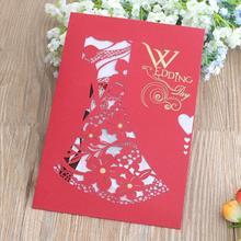 50pcs/lot Luxury Wedding Invitations Card Elegant Laser Cut Bride and Groom Invitation Decor Event Party Supplies