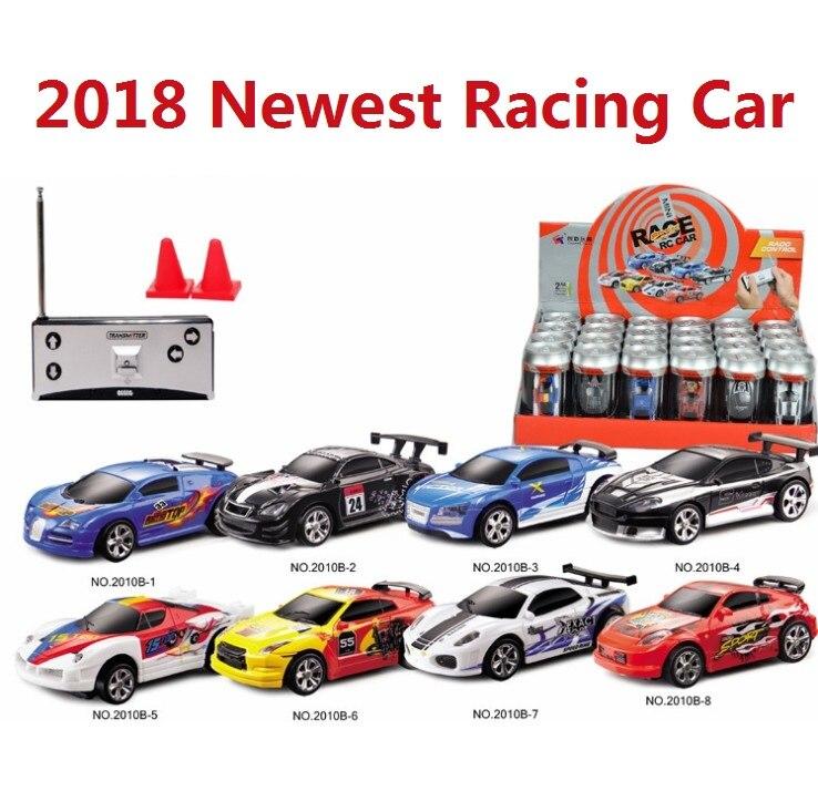 2018 más reciente actualización 8 colores 20 km/h Coke Can Mini RC coche Radio Control remoto Micro Racing coche 4 frecuencias juguete para regalo de niños
