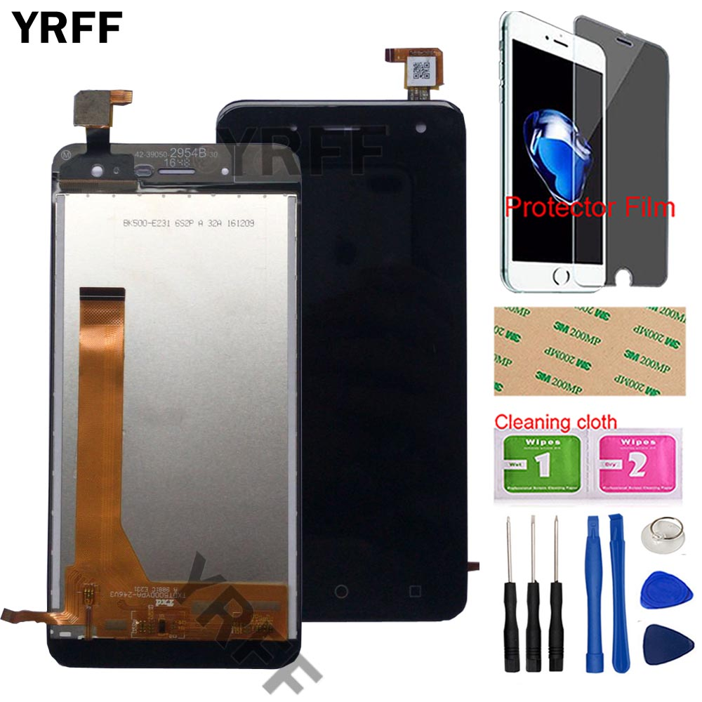 Mobile LCD Display Full Assembly For BQ BQ 5057 Strike 2 BQs 5057 LCD Display Touch Screen Digitizer Panel Tools Protector Film