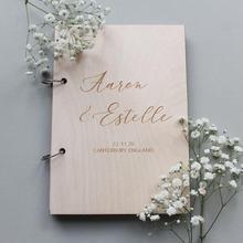 Каллиграфии, гостевая книга, Курсив, гостевая книга, деревянные стилизованный подарок на свадьбу, современный, гостевая книга, персонализированные Гостевая книга, гостевая книга для посетителей Messa