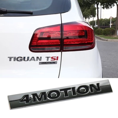 ABS <font><b>4</b></font> MOTION TIGUAN car rear <font><b>sticker</b></font> Car rear <font><b>sticker</b></font> For Volkswagen VW <font><b>Golf</b></font> 6 7 GTI CC Sagitar Bora Passat Touran image