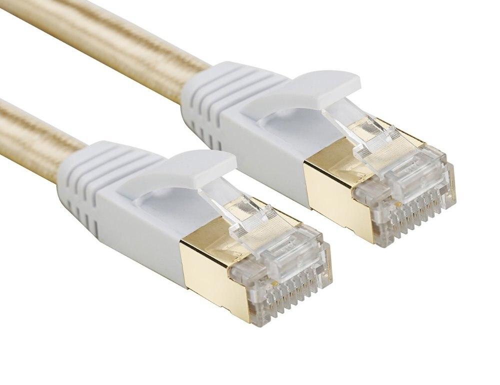 Splitter 6FT//10FT Black Cat 7 Flat High Speed 10GB Shielded RJ45 Ethernet Cable