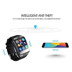 Image 4 - Bluetooth 腕時計 Q18 スマート腕時計サポート Sim TF カード ip67 歩数計カメラアンドロイド Ios 電話スマート腕時計男性女性