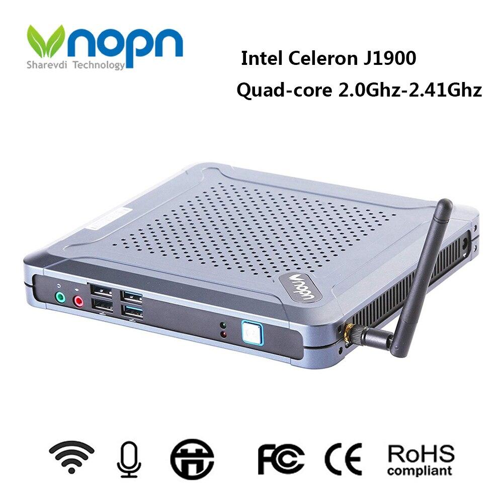 Celeron J1900 Quad Core Mini PC Max 2.41GHz Intel HD Graphics Barebone 1080P HTPC TV Box Windows Linux 8*USB Computer with WIFI