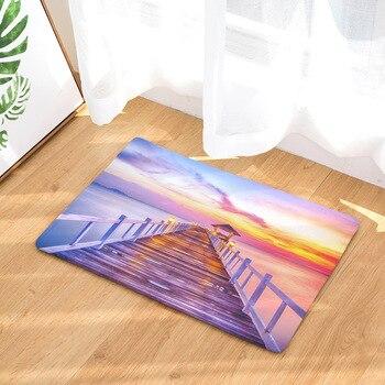 Alfombrillas de suelo de paisaje estético de moda impresión Digital para baño cocina dormitorio Mini alfombras, alfombras al aire libre, alfombras frontales