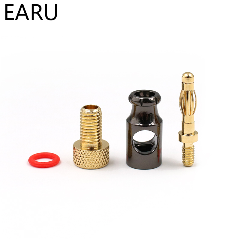 Image 4 - 12Pcs Nakamichi 4mm Banana Plug Spiral Type 24K Gold Screw Stereo Speaker Audio Copper Terminal Adapter Electronic Connectorconnectors electronicconnectors goldconnector 4mm -