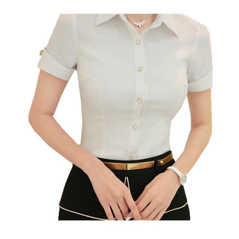 OL formales sólido cuerpo blusas camisas para mujer  Nuevo las mujeres de manga