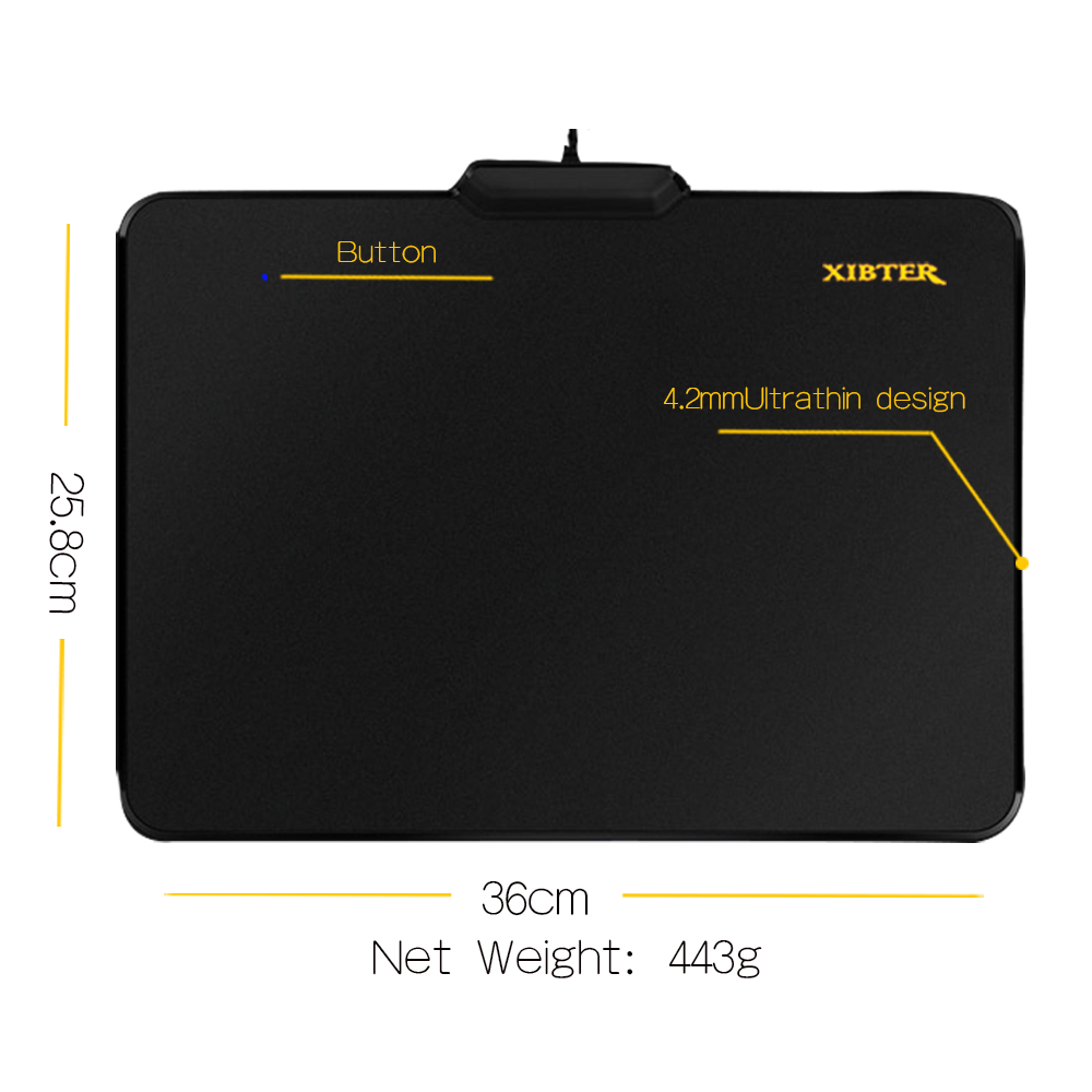 Dark Gamer Play Games Led Light Xibter Luminous Gaming Mouse Pad Gamer Play Games Led Light Nonskid Rubber Material Mousepad Buy Direct From China Mouse Pads Fromcomputer Xibter Luminous Gaming Mouse