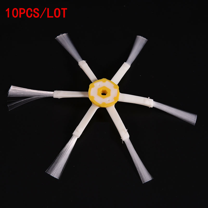 10PCS Replacement 6-armed Side Brush For iRobot Roomba 500 600 700 780 560 Series Vacuum Cleaner parts robots 6 Arms Side Brush 100pcs side brush for irobot roomba 500 600 700 series 550 560 630 650 760 770 780 vacuum cleaner accessories parts