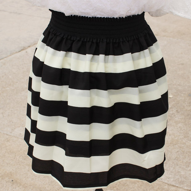 9bdece3a141 Free Shipping New Arrivals Fashion Brand Black And White Striped Navy Skirt  Plus Size Cheap School Tutu Full Skirts