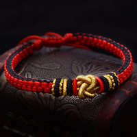 Fashion Red Rope Dragon Knot Bracelet Concentric Knot Bracelet For Lover Gift Handmade Lucky Bangle Jewelry