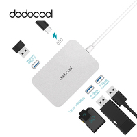 dodocool 6 in 1 USB C Hub Alloy Multifunction USB HUB with Type C Power Delivery USB 3.0 HUB Type C Hub For Huawei P20 pro