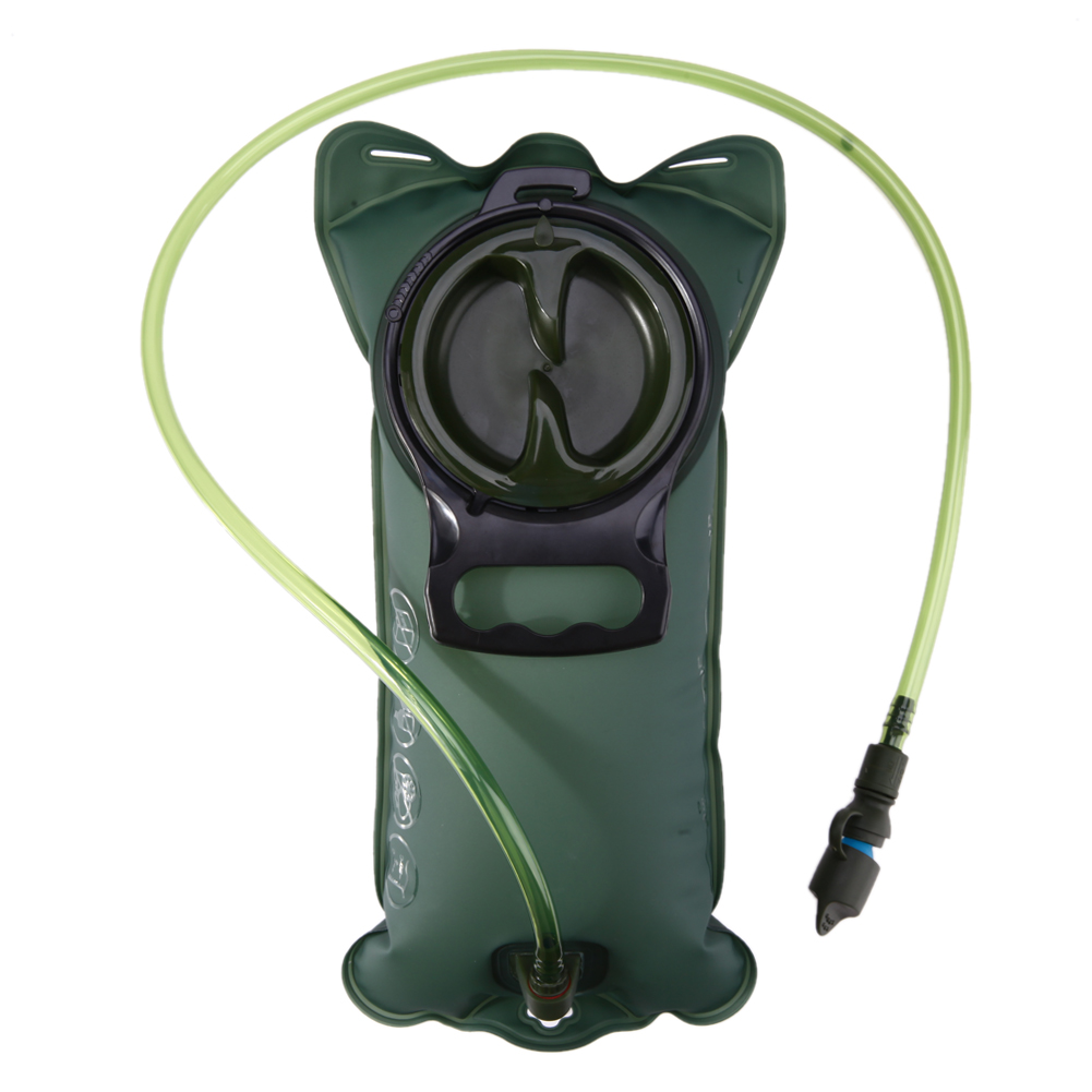 2L Camping Water Bag TPU Bicycle Mouth Sports Water Bag Bladder Hydration Camping Hiking Climbing Military Green camelback