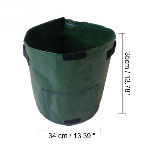 2 Pcs 50L Planting PE Bags Cultivation Garden Pots Planters Vegetable Fruit Potato anti-aging Grow Bags Farm Home Garden Tools 4