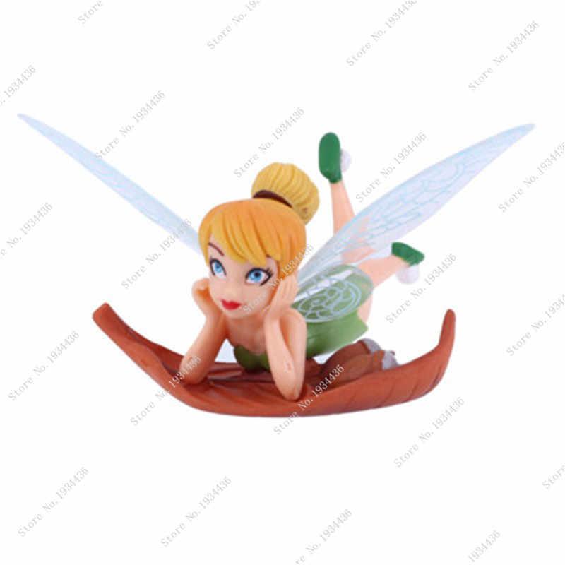 New 6pcs/Set DIY Garden Ornaments Flying Flower Fairy Miniature Resin Figurine Craft Fairy Garden Decoration Cartoon Mini Toys