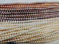 one strand loose beads freshwater pearl near round white/pink/purple 11 13mm 15inch AA for DIY necklace wholesale
