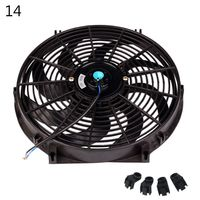 10inch 12inch 14inch Universal Car Radiator Fan Slim Push Pull Electric Engine Cooling Fan 12V qiang|Air-conditioning Installation| |  -