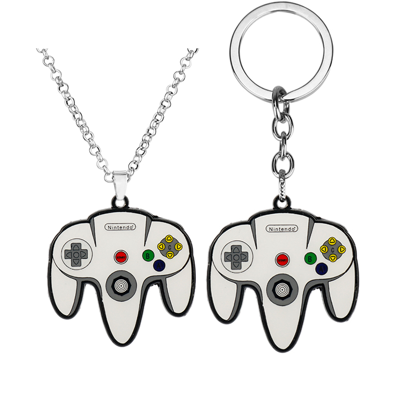 Hip Hop Creative Jewelry Game Controller Necklace Keychains Boyfriend Perfect Gift Video Game Controller Pendant Car Keyring in Pendant Necklaces from Jewelry Accessories