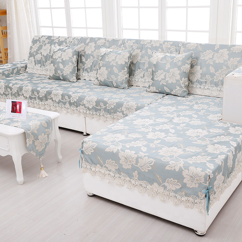 Covering A Sofa With Fabric: Aliexpress.com : Buy Sofa Towel Jacquard Lace Sofa Cover