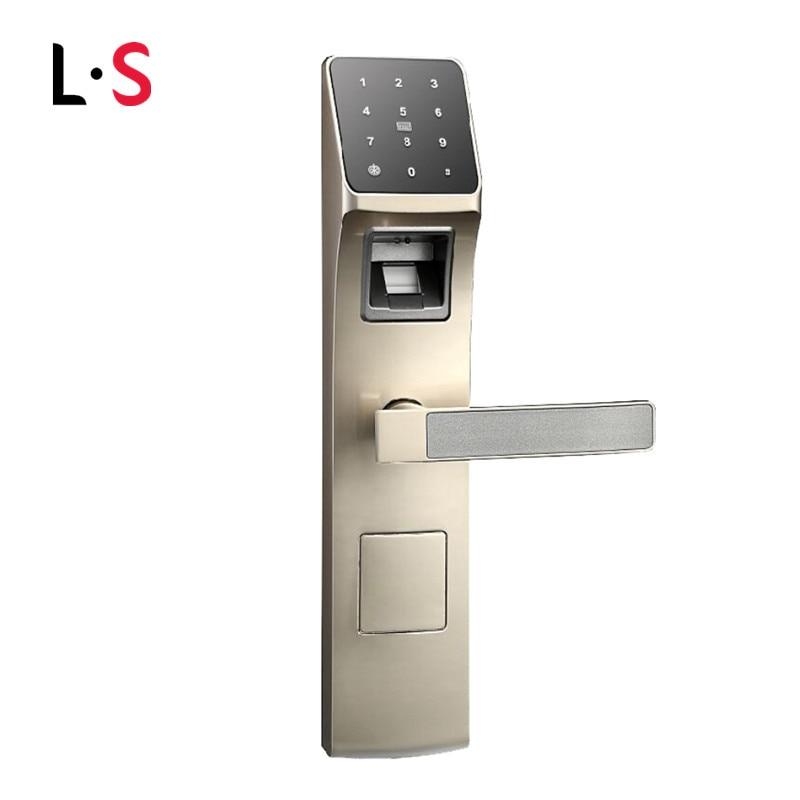 Ospon Os008c Digital Touchscreen Code Door Lock: Biometric Electronic Door Lock Fingerprint, Password, RFID