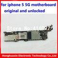 Para iphone 5 5g 16 gb originais motherboard 100% bom trabalho placa lógica mainboard sistema OEM com IOS desbloqueado por para apple