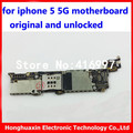 for iphone 5 5G 16GB original motherboard 100% good working unlocked mainboard OEM system logic board with IOS by for apple