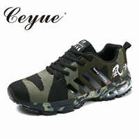 Ceyue Mens Mesh Waving Unisex Casual Shoes Adult Air Cushion Breathable Sneakers For Lovers Big Size