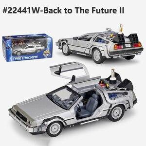 Image 1 - 1/24 مقياس معدني سبيكة سيارة دييكاست نموذج جزء 1 2 3 آلة الوقت DeLorean DMC 12 لعبة مجسمة العودة إلى المستقبل يطير الإصدار الجزء 2