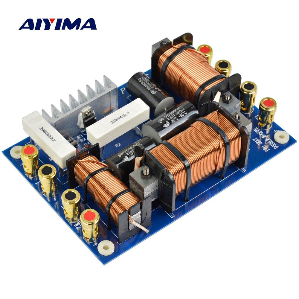 Aiyima 1 шт. Профессиональный динамик 2 Way делитель частоты низкочастотный динамик-1200 Вт двойной 1000 2 единицы кроссовер фильтр этап звук