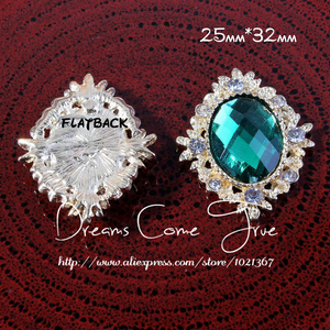 Image 4 - 200 adet/grup 6 Renk Dekoratif düğmeler Metal Rhinestone düğmeler craft Flatback Kristal düğmeler At göz altın düğmeler mix