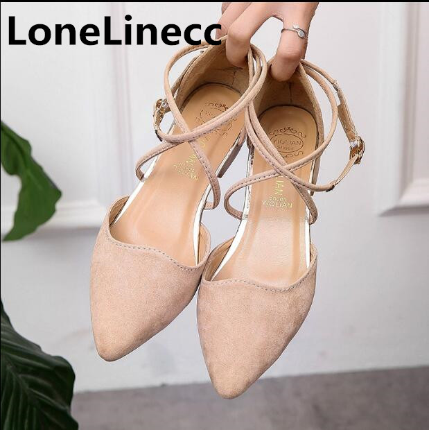 Women Suede Flats Fashion Cross-tied Rome sandals High Quality Pointy Ballerina Ballet Flat Shoes women Single shoes woman D002 ballerina wedding shoes women sweet candy ballet pointy pu leather shoes girls summer spring flat shoes butterfly bowknot