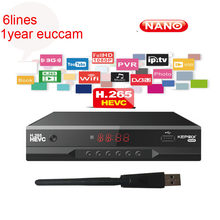 Kepnix Nano Mendukung Ccam Baru Cam Av M3u Hevc H.265 Satelit Receiver 1080P PowerVu Roll Otomatis Biss Youtube Set top Box(China)