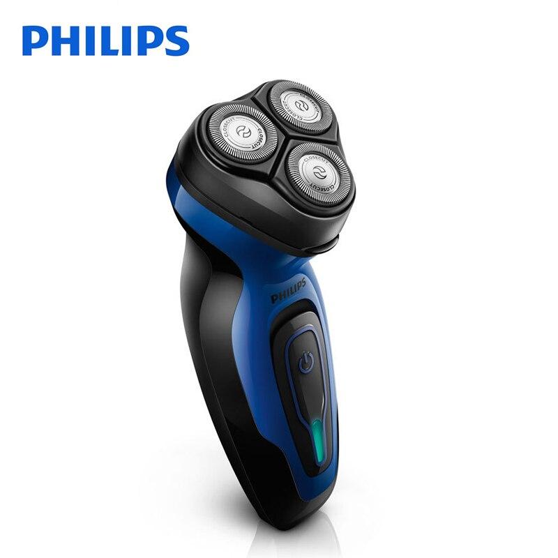Philips Rasoio Elettrico YQ6008 Rotary Ricaricabile 100-240 V Tripla Lama Ruotare Viso Barba Rasoio Elettrico Per Gli Uomini