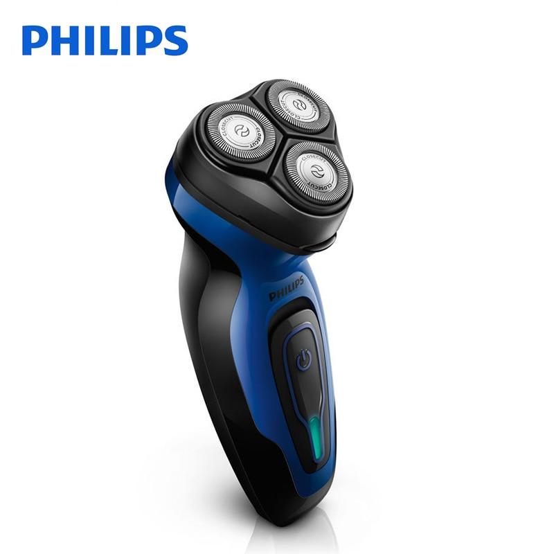 Philips Rasoir Électrique YQ6008 Rotatif Rechargeable 100-240 V Triple Lame Tourner Visage Barbe Rasoir Électrique Pour Hommes