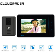 CLOUDRAKER CS914 Video Doorbell 1x 7 Inch Monitor with 1x720P Wired Door Phone Camera Video Intercom System