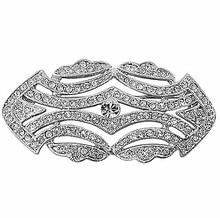 Rodio plateado plata cristalina clara corazón de moda broches y alfileres banquete de boda regalo