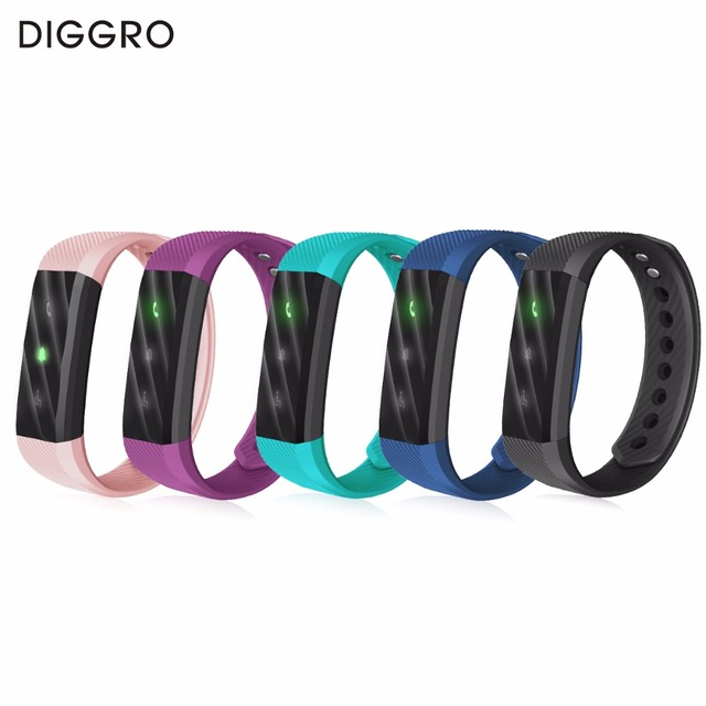 New Diggro Id115 Lite Smart Bracelet Fitness Track Ip67 Waterproof Monitor Bluetooth 4 0 Band