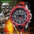 Homens marca de Esportes Relógios Led Digital À Prova D' Água Moda Quartzo Relógio Analógico Militar Multi-function Mens Watch relogio masculino