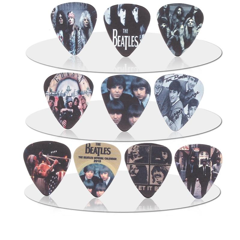 10pcs 0.71mm Beatles Mana Guns N 'Roses band quality two side earrings Accessories pick DIY design guitar  pick guitar picks