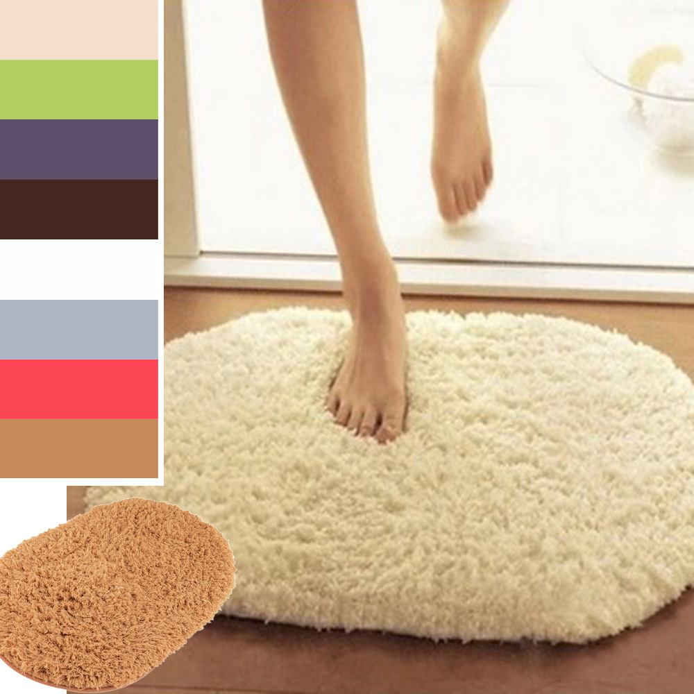 Non Slip Plush Memory Velvet Slip Mats Dust Doormat Absorbent Bathroom Floor Rug Washable Bath Mat