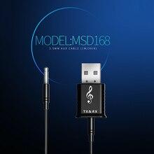 Usb беспроводной приемник передатчики Bluetooth V5.0 аудио музыка стерео адаптер ключ для ТВ ПК автомобиля Bluetooth динамик наушники