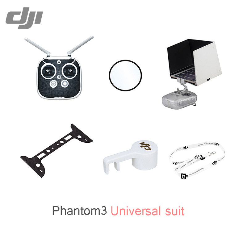 DJI Phantom 3 Universal suit Camera protective film Remote Sticker/Sling light shield plate Len cap Camera protective Plate set